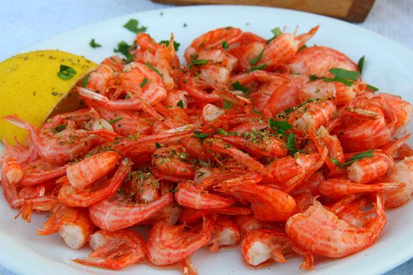 Manos fish restaurant - garidaki symiako
